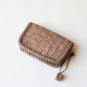 山葡萄×レザー 小型財布