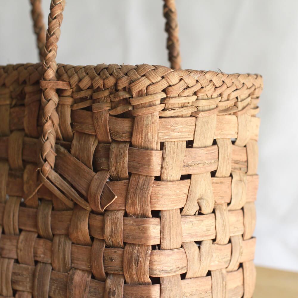 e8af4edae79e 山葡萄かごバッグ 市松編み 国産山葡萄蔓使用 – oriori